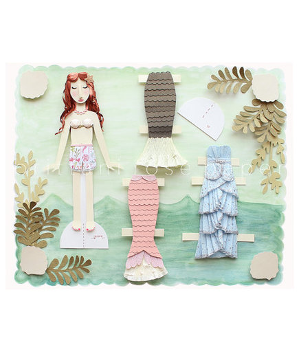 Papercut Mermaid Paper Doll