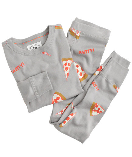 Boys Glow-in-the-Dark Pizza Party Pajamas