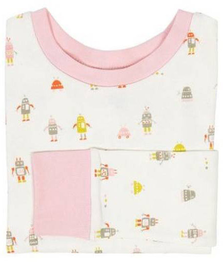Little Auggie Girls Robot Pajamas