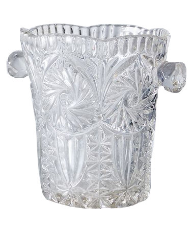 Vintage French Glass Ice Bucket