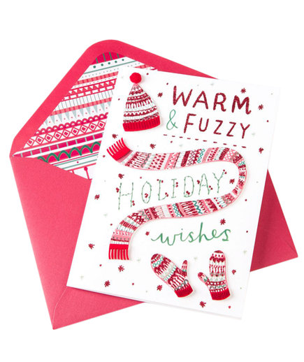 Handmade Cap & Mittens Holiday Boxed Cards