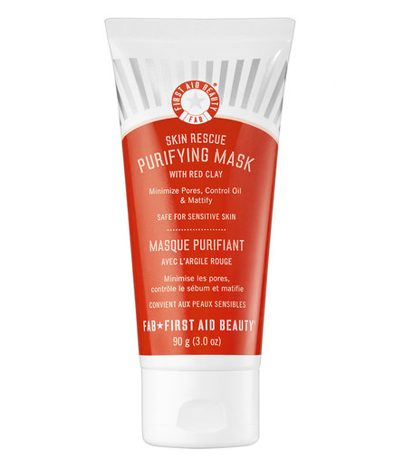 Oily: First Aid Beauty Skin Rescue Purifying Mask With Red Clay