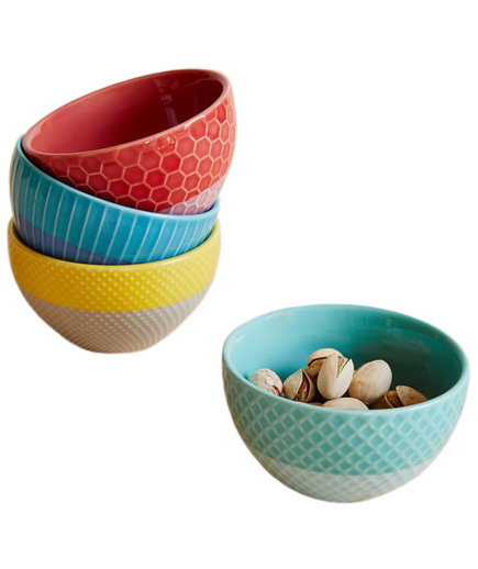 Textured Bright Dip Bowls