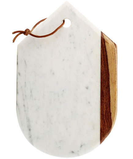 Thirstystone Urban Farm White Marble Pointed Oval Board