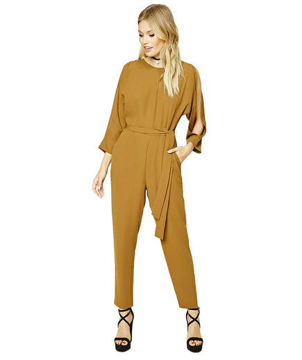 Forever 21 Contemporary Vented Jumpsuit