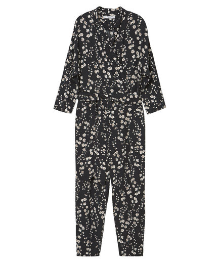 Mango Printed Wrap Jumpsuit