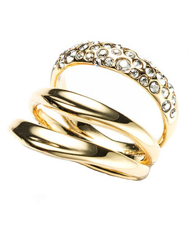 Alexis Bittar Liquid Gold Crystal Encrusted Draping Ring