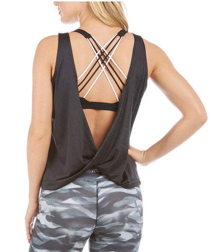 Marika Revved Up Drape Back Tank