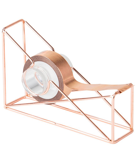 Rose Goldtone Tape Dispenser