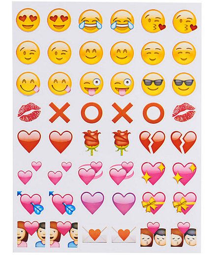 Emoji Hugs and Kisses Stickers