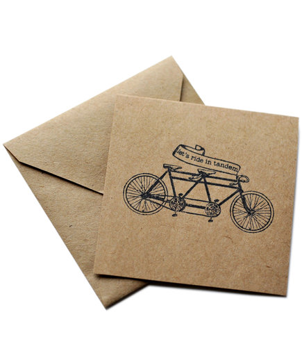 Let's Ride Tandem Card