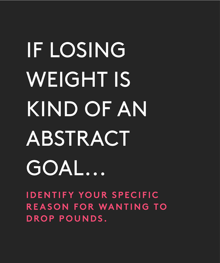 If losing weight is kind of an abstract goal…
