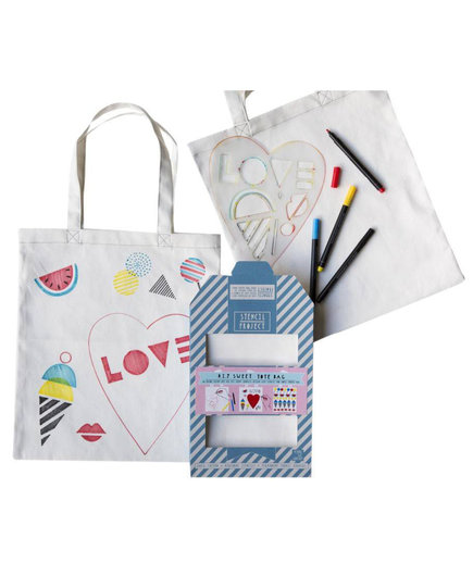 Sweet Tote Bag Stencil Kit