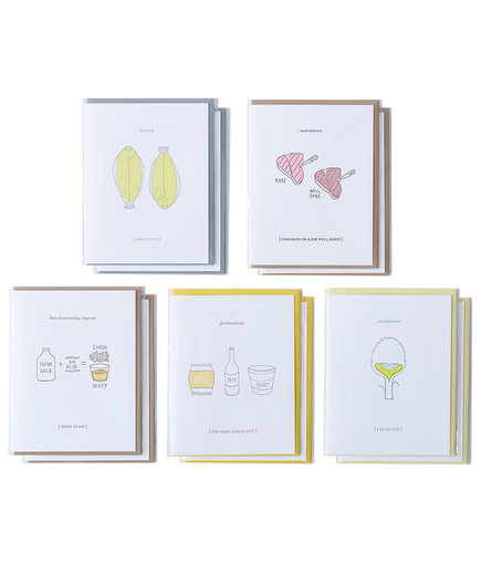 Food-Inspired Friendship & Love Cards