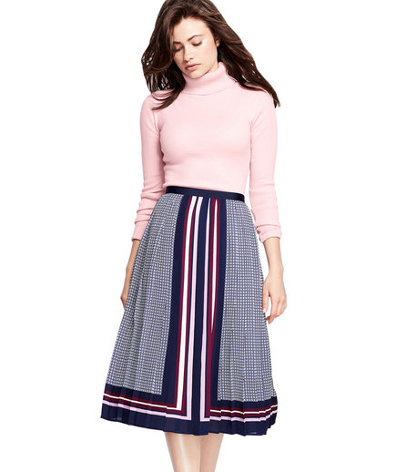 Canvas by Lands' End Pleated Midi Skirt