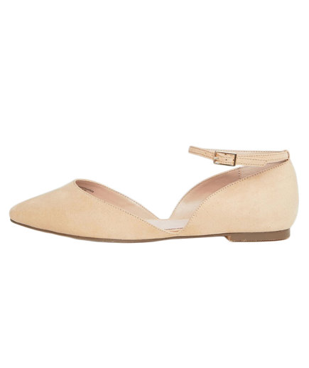 ASOS Faith Wide-Fit Al Ankle Strap Flats