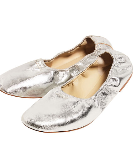 Zara Soft Leather Ballerinas