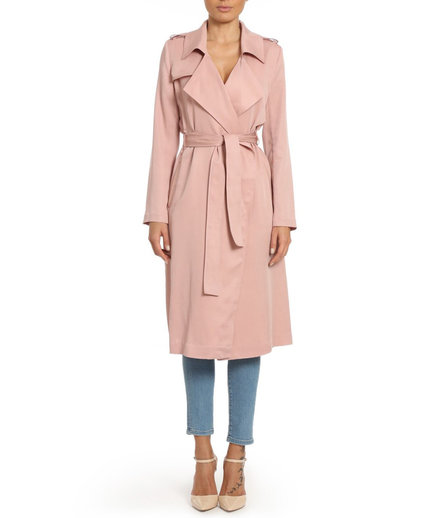 Badgley Mischka Long Trench Coat