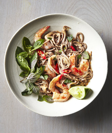 Spicy Thai Shrimp Soba Salad