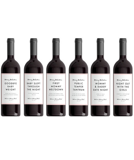 New Mom Wine Labels