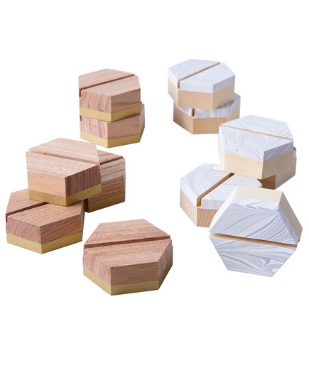 Geometric Place Card Holders