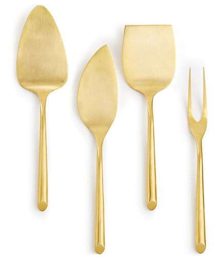 Gold Cheese Knives Set