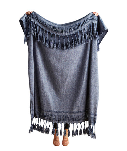 Roped Fringe Throw Blanket