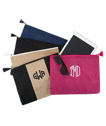 Jute Carry-All Tassel Pouches