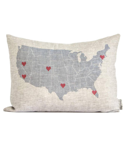 Personalized Map Pillow
