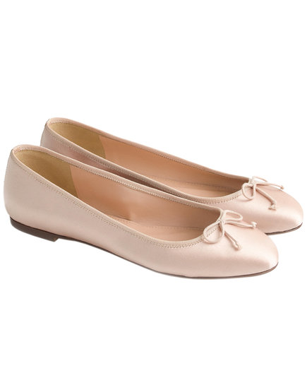 J. Crew Camille Ballet Flats in Satin