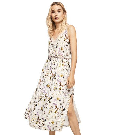 Massimo Dutti Floral Print Camisole Dress