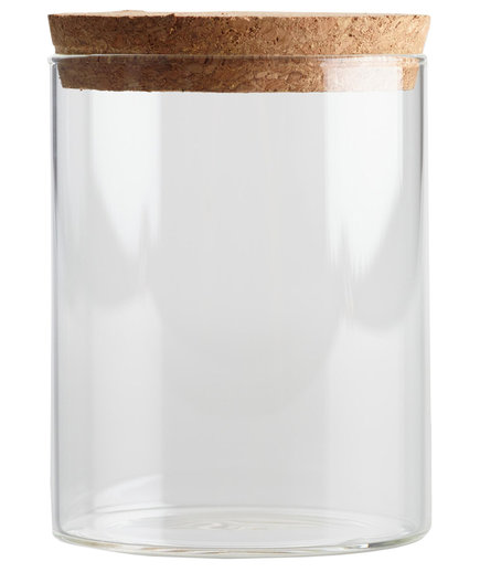 Glass Canisters with Cork Top