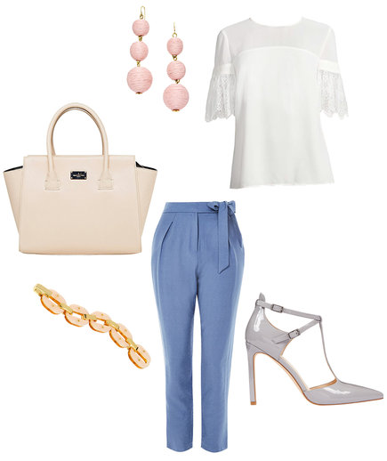 Graduation outfit with polished pants