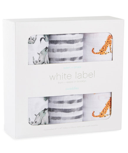 Aden + Anais White Label Swaddle Set
