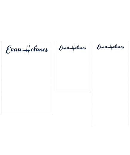 French Script Mixed Personalized Notepads