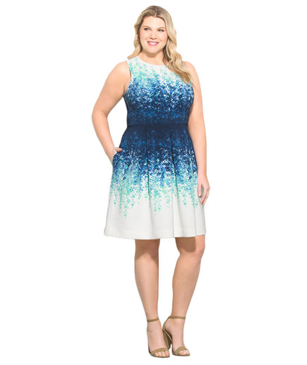 Luxe by Carmen Marc Valvo Plus Size Floral Dress