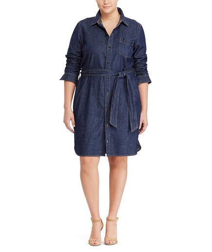 Lauren Ralph Lauren Plus Denim Shirt Dress
