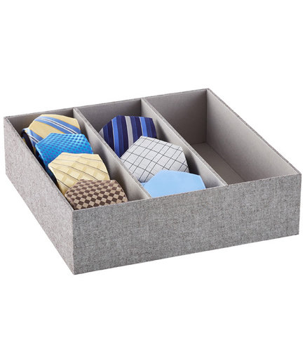 3-Section Grey Drawer Organizer