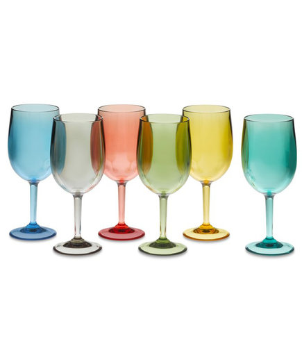 DuraClear Multicolor Red Wine Glasses, Set of 6