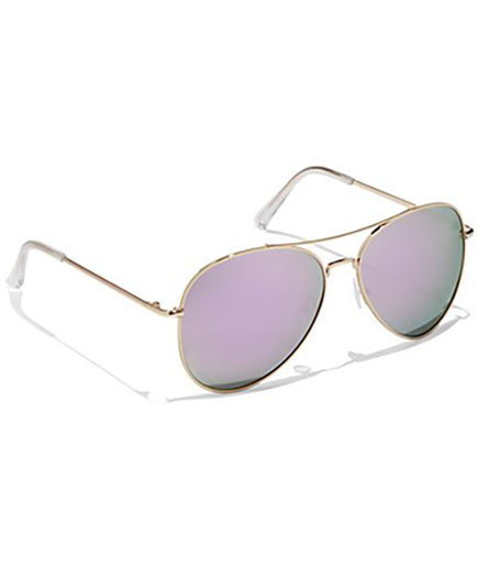 New York & Company Color Mirror Aviator Sunglasses
