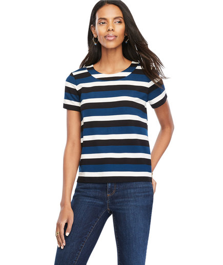 Ann Taylor Striped Doubleface Tee