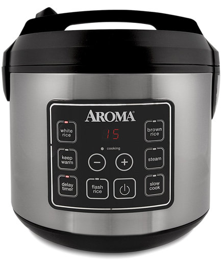 Aroma 20-Cup Digital Rice Cooker, Food Steamer and Slow Cooker