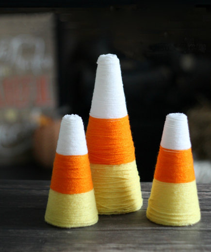 yarn-candy-corn-cones