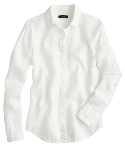 J. Crew Perfect Shirt In Piece-Dyed Irish Linen