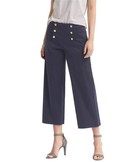 Banana Republic Blake-Fit Wide-Leg Sateen Crop Sailor Pant