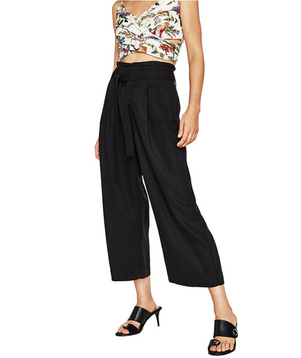 Zara Culottes With Bow