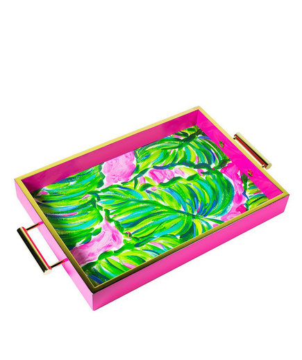 Lilly Pulitzer Painted Palm Hostess Tray