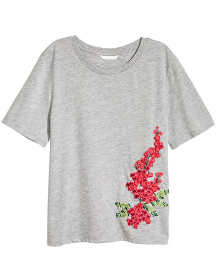 H&M Embroidered T-Shirt