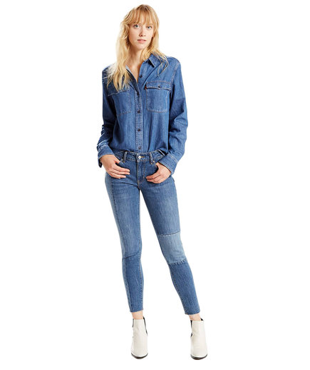 Levi's 711 Skinny Jeans in Blue Renewal
