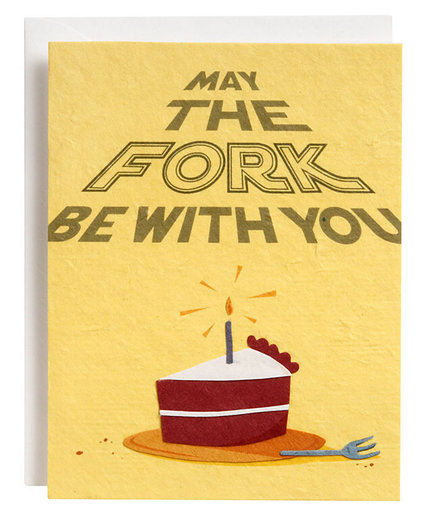 Fork Be With You Birthday Card